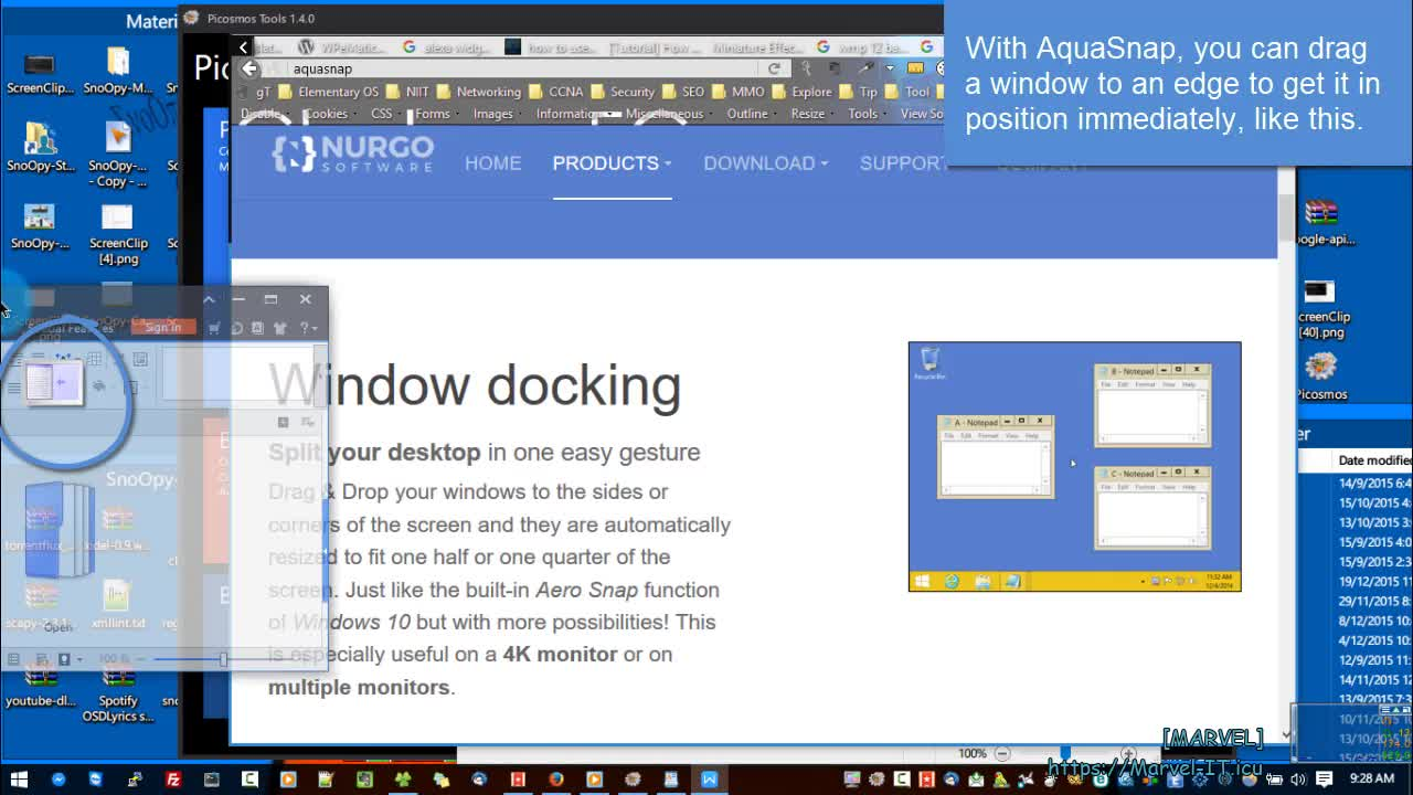 Multitask like a pro with AquaSnap tiling window manager for Windows Windows 10 | Windows 10 Server 2019