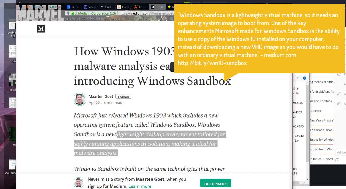 Sanboxie Windows 10 SandBox defends against advanced threats Snapshot Clone system Hyper V | Security-Privacy GDPR