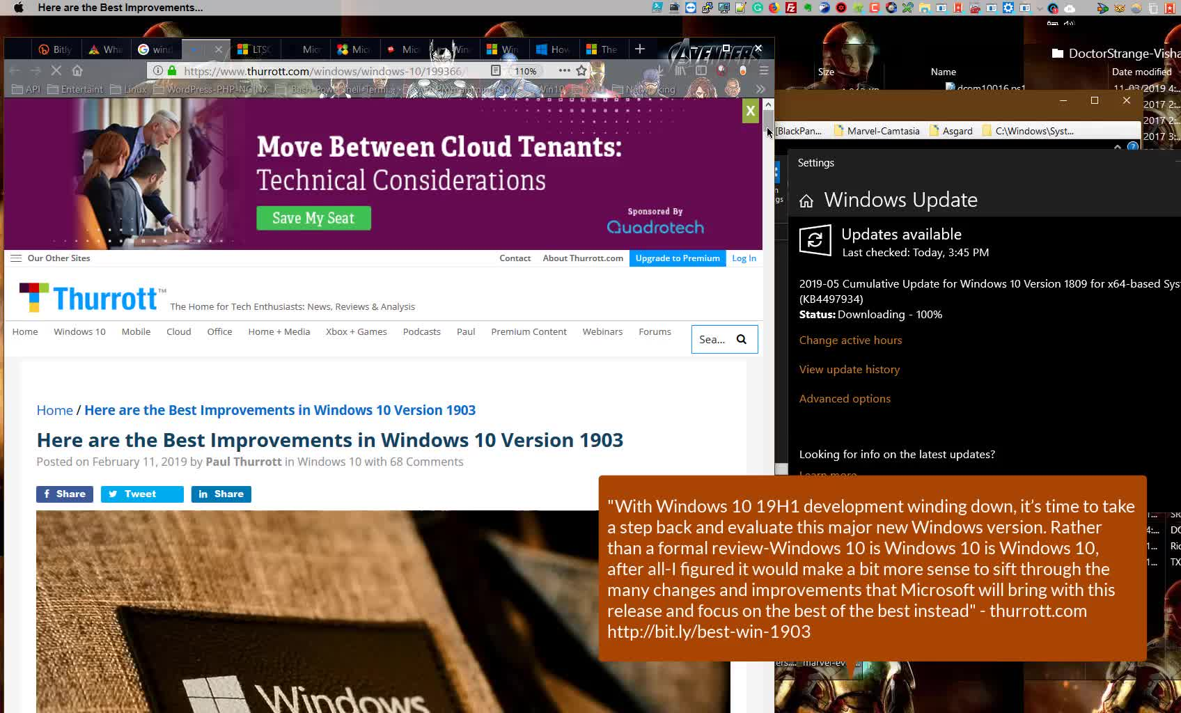 Windows 10 RTM 1903 build 18362 – Upgrade or Switch to LTSC