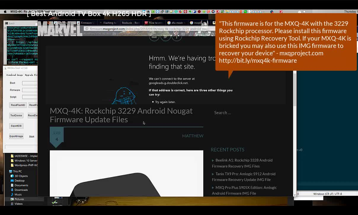 MASKROM AIO #2 – Android TV box Brick-Hang-Stuck at the Boot