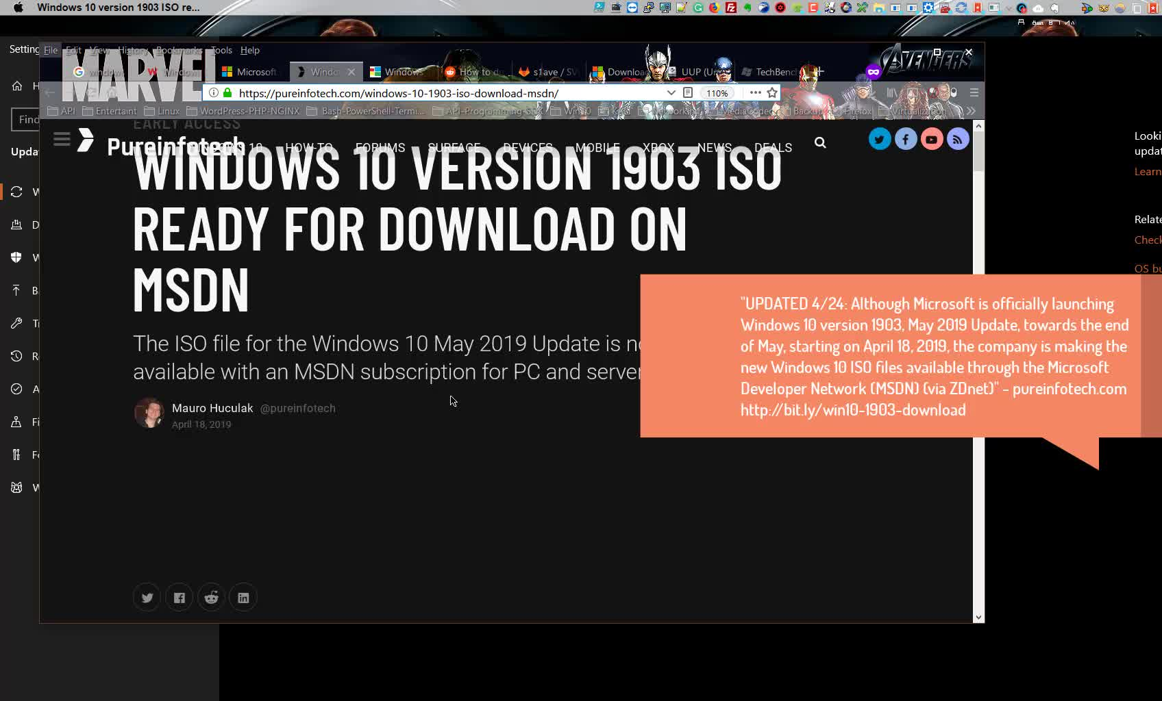 1001 ways to download Windows 10 RTM 1903 Update ISO MSDN UUP TechBench SVF ISO Evaluation Center | Windows 10 Server 2019