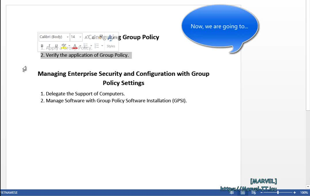 3 2 1 Verify the application of Group Policy Part 1 Intro and Prepare GPOs Windows Server 2012 | IADDSWSE - Implementing AD Domain Services on a Windows Server Environment