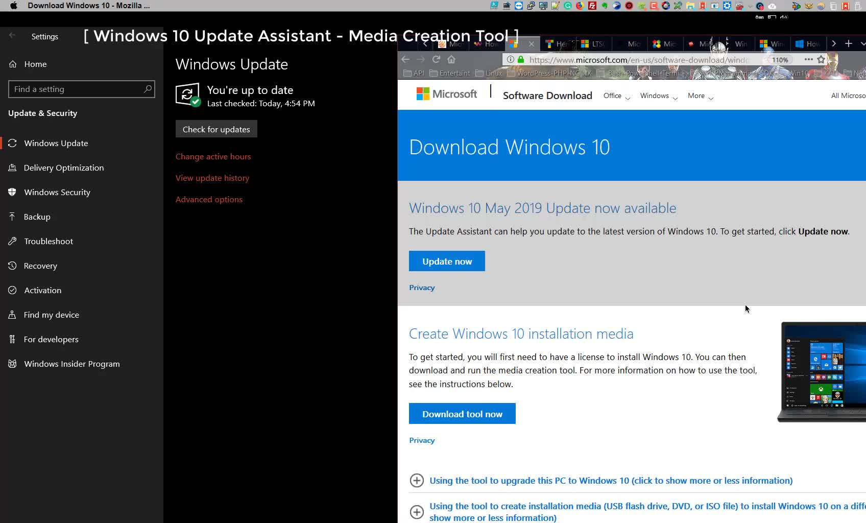windows 10 update assistant download 2019