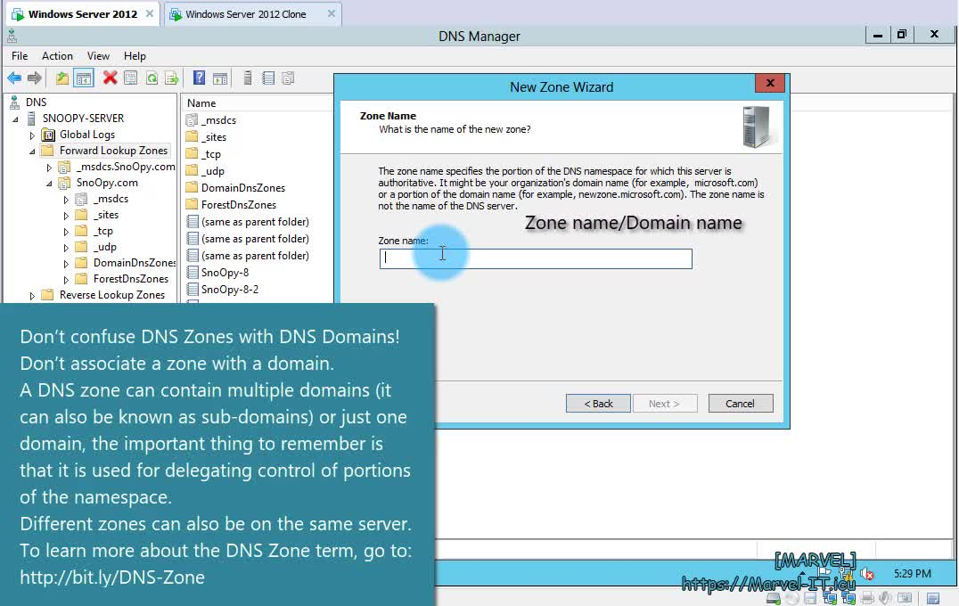 4 1 Configure forward lookup zones and resource records DNS Windows Server 2012 | IADDSWSE - Implementing AD Domain Services on a Windows Server Environment